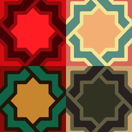 liana: A decorative pattern in different color option vector illustration Illustration