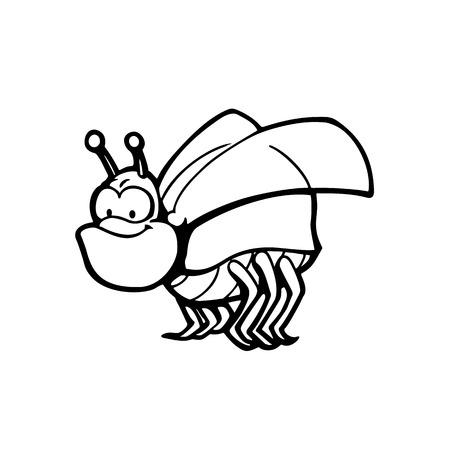 Insectos lindos y divertidos. Personaje de dibujos animados de animales Ejemplo del vector Foto de archivo - 81123285
