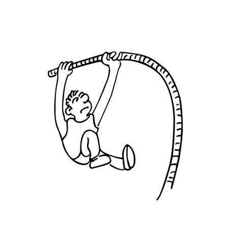 高いジャンプのスポーツ漫画手描きのスケッチ イラストを概説しました。  イラスト・ベクター素材