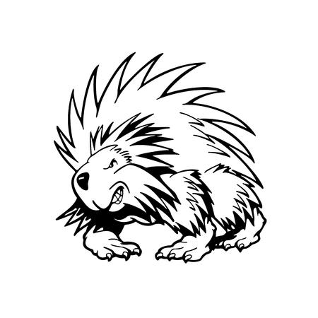 hedgehog . Animal cartoon character . Vector Illustration.