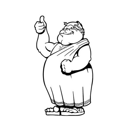 Roman Emperors Cartoons character . Vector Illustration. 일러스트