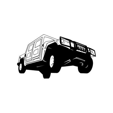 Off road car Vector Illustration Иллюстрация
