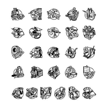 Profession illustration collection set