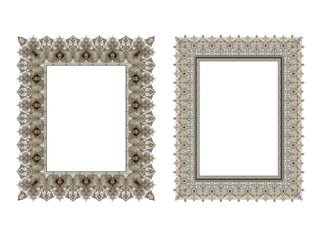 Vierkante elegante frame vectorillustratie. Stockfoto - 81123327