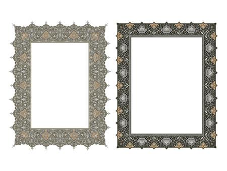 Quadratische elegante Rahmen Vektor-Illustration. Standard-Bild - 81123328