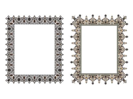 Quadratische elegante Rahmen Vektor-Illustration. Standard-Bild - 81123336
