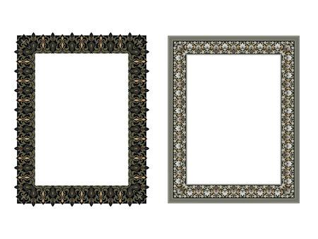 エレガントなスクエア フレーム ベクトルの図。
