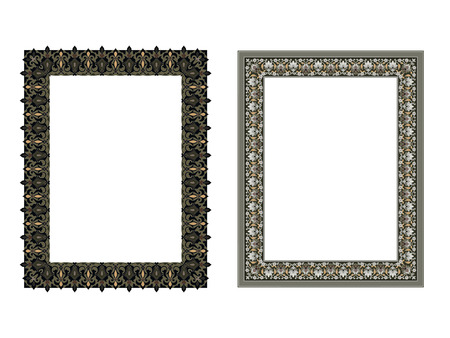 Quadratische elegante Rahmen Vektor-Illustration. Standard-Bild - 81123337