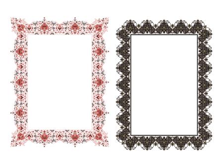 Quadratische elegante Rahmen Vektor-Illustration. Standard-Bild - 81123252