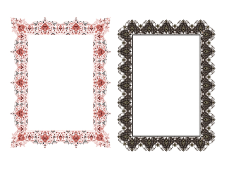 Square elegant frame Vector Illustration.