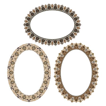 Oval elegant frame Vector Illustration. Reklamní fotografie - 81123338