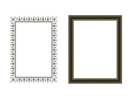 Marco elegante cuadrado Ilustración vectorial. Foto de archivo - 81123341