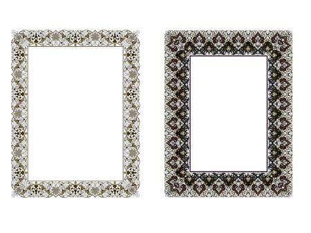 Marco elegante cuadrado .. Ilustración vectorial. Foto de archivo - 81123343