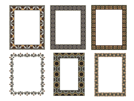 Square elegant frame Vector Illustration.. Collection set