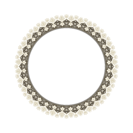 Round elegant frame Vector Illustration.