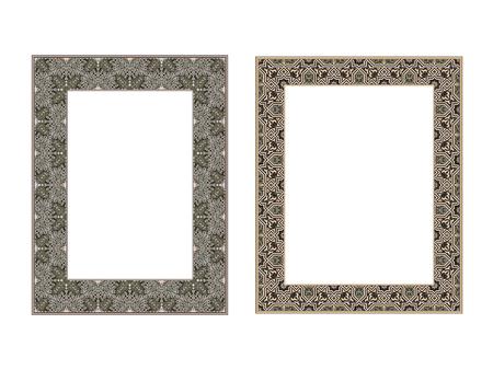 Quadratische elegante Rahmen Vektor-Illustration. Standard-Bild - 81123350