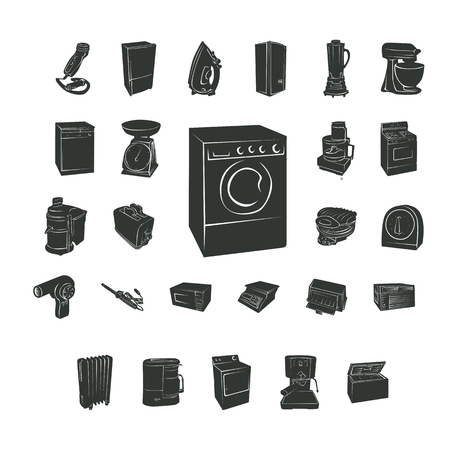 home electronic silhouette. Vector Illustration.. Collection set Illustration