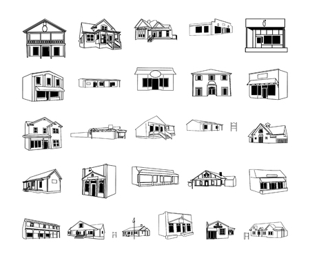建物漫画クリップ アート コレクション