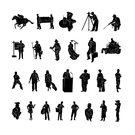 Profession of work silhouette Vector 向量圖像