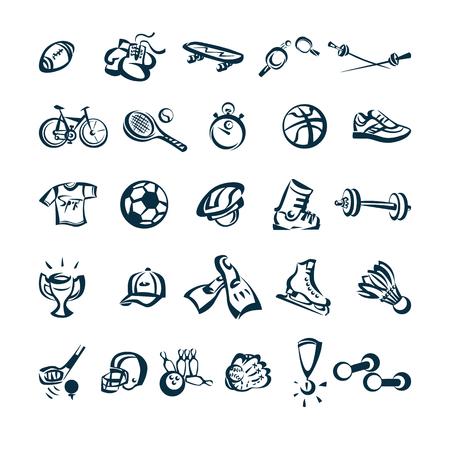 Sport drawing cartoon icon Vector Illustration Vettoriali