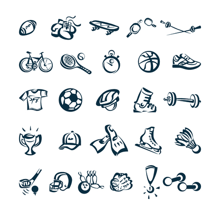 Sport tekening cartoon pictogram vectorillustratie