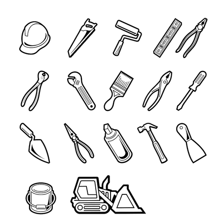 Vector construction tools icon set Vector Illustration