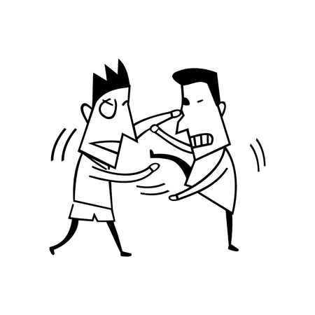 vechten jongens illustratie vector Stock Illustratie
