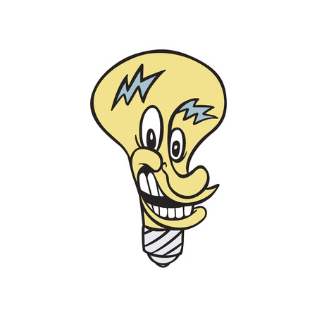 Lamp electrical cartoon illustration vector
