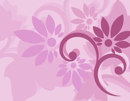 Naadloos purper bloemenbehang Stock Illustratie