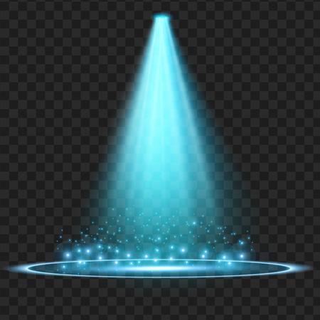 Blauwe Vector schijnwerper. Licht effect. vector illustratie Stockfoto - 81141199