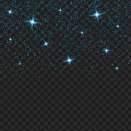 Vector blauwe transparant glitter textuur. Glanzende glammelende lovertjes abstracte achtergrond. Stock Illustratie