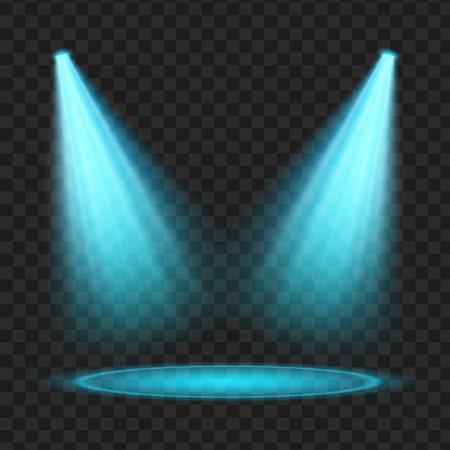 Blauwe Vector schijnwerper. Licht effect. vector illustratie Stockfoto - 81141202