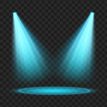 blue Vector spotlight . Light effect. vector Illustration
