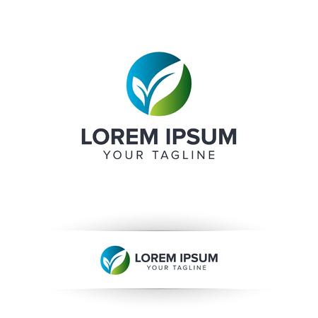 リーフ グリーンのロゴ。環境とグリーン造園リーフ ガーデンの自然のロゴ