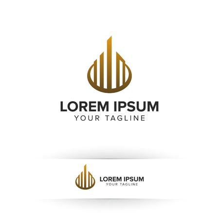 luxury real estate logo. Architectural Construction logo design concept template