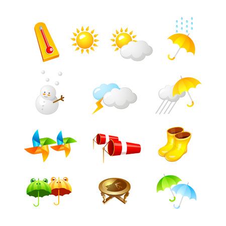 天気アイコン。3 D アイコン ベクトル イラスト デザイン コレクション セット