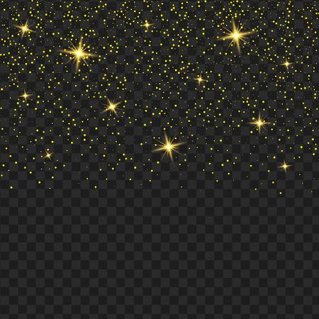 Vector gele transparant glitter textuur. Glanzende glammelende lovertjes abstracte achtergrond. Stock Illustratie