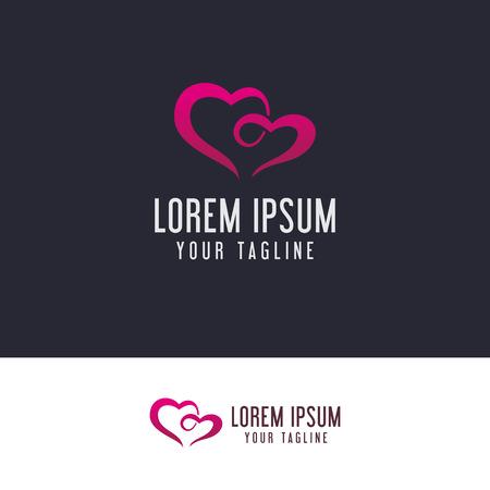 couple Love logo design concept template