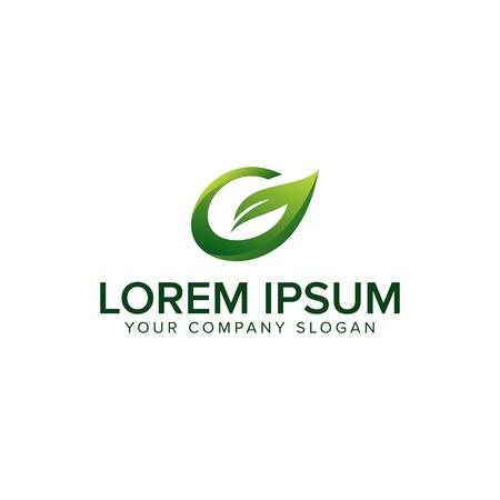 Letter G Leaf Logo Design Template Element Illusztráció