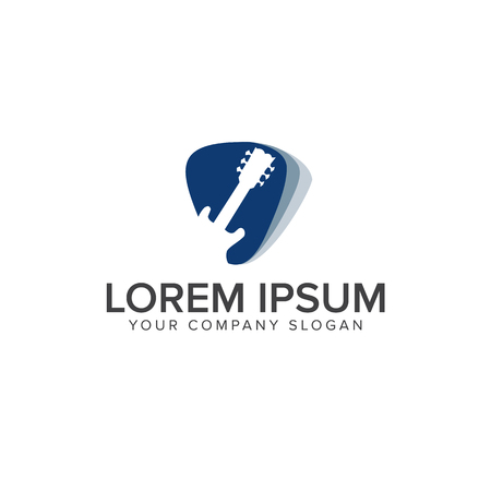 Modern Music Logo - Guitar Clef Symbol. logo design concept template