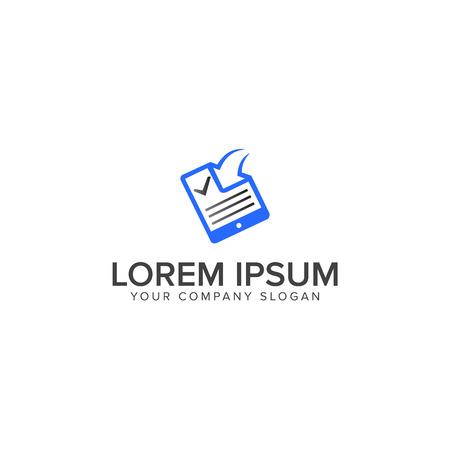 Document with arrow logo design concept template