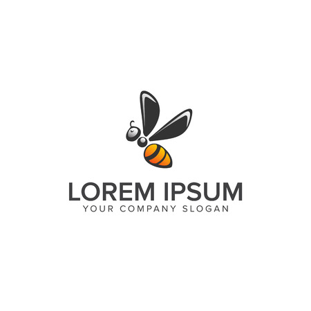 Bee Logo design vector template 免版税图像 - 82071464