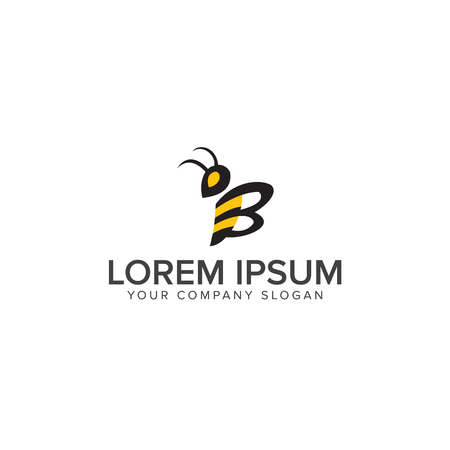 Bee Logo design vector template