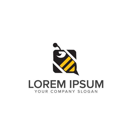 Bee Logo design vector template