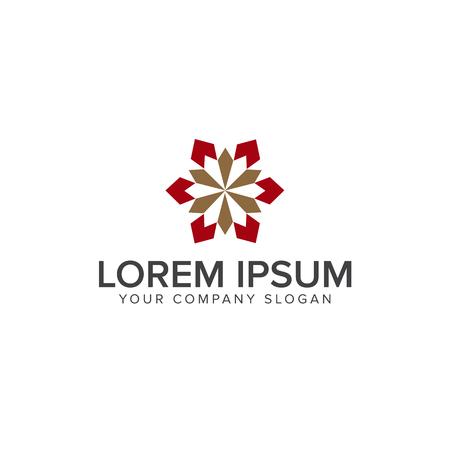 室内装飾のロゴ デザイン コンセプト テンプレート
