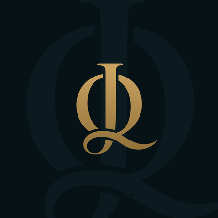 luxury letter jq logo design concept template