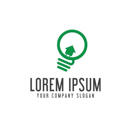 light bulb real estate logo design concept template