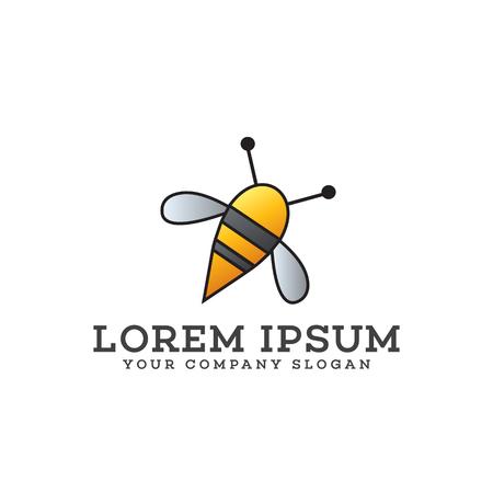 bee logo design concept template Ilustração