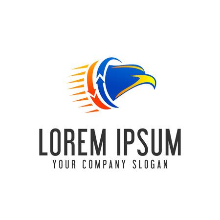 eagle head logo. fast moving logo design concept template