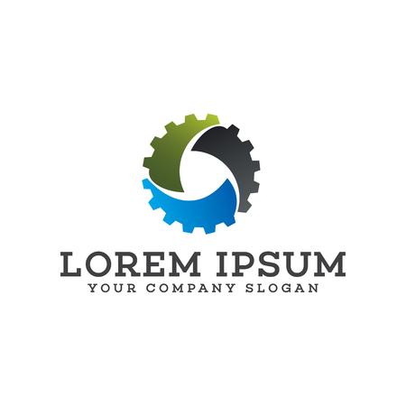 mechanisch automatisch logo. versnelling automotive logo ontwerpsjabloon concept